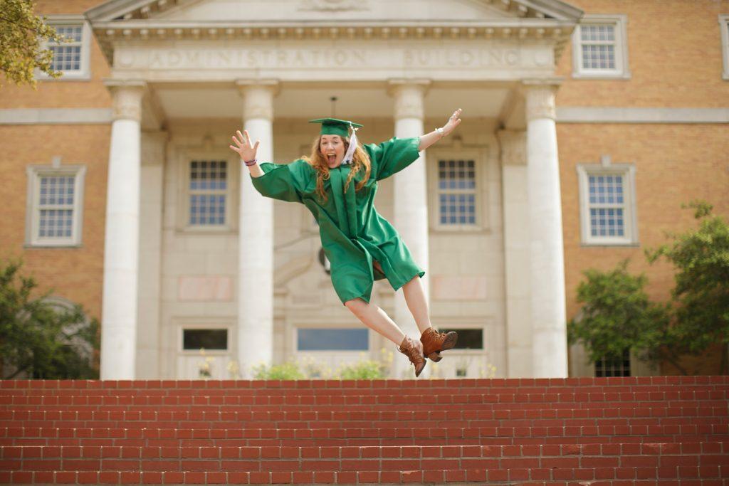 Graduation on campus