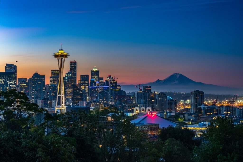 Image of Seattle, Washington, home of the University of Washington.