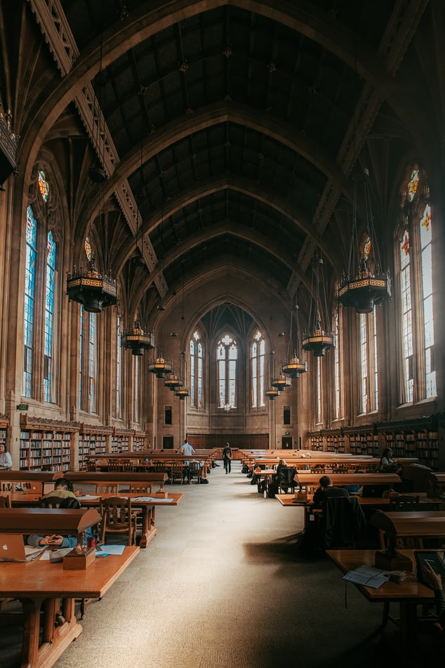 Image of Suzzalo Reading Room at the University of Washington in Seattle.